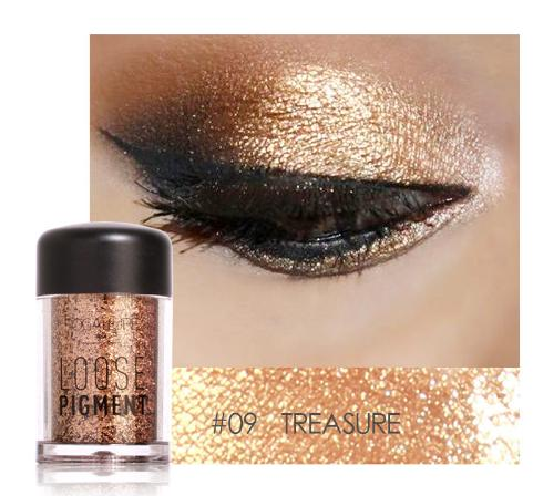 new arrival Glitter Eyeshadow Powder Waterproof Loose Shimmer Eyeshadow Pigment 3D Nude Metallic Eye Shadow Makeup Cosmetics