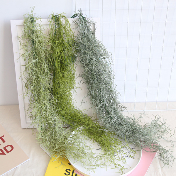 91cm Air Plant Grass Leaf Hanging Wall Greenery For Garden Plastic Artificial Vine 3pcs/lot Hanging vines succulents