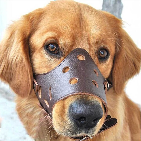 Pet Dog Adjustable Mask Anti Bark Bite Mesh Soft Mouth Muzzle Grooming Chew Stop dog collar For Small Large Dog Size XS-XL