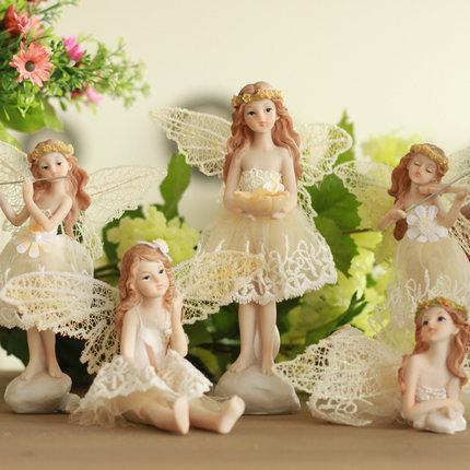 Avrupa kırsal melek odası oturma odası ark küçük ev dekorasyon dekorasyon fikirleri reçine mefruşat ürünleri düğün hediyesi