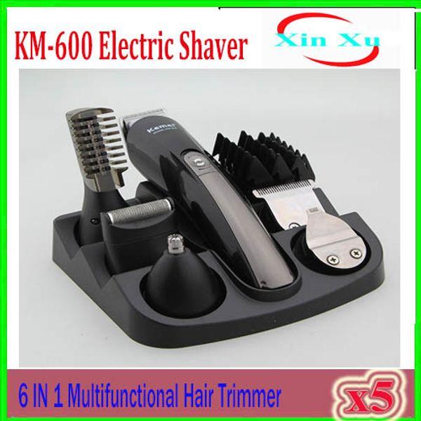 KM-600 Professional Hair Clipper Trimmer Electric Shaver Beard Trimmer Hair Razor For Men Hair Cutting Shaving Machine 5pcs ZY-TX-02