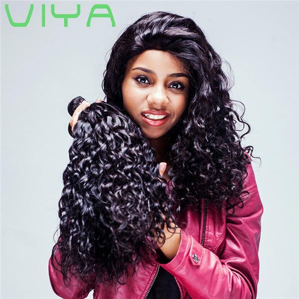 9a Virgin Hair Curly Gold Suppliers 100% Virgin Peruvian Human Hair Extension 4pcs/lot Virgin Remy No Shedding Hair With Free Shipping