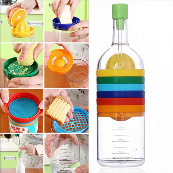 Multifunction 8 In 1 Bottle Funnel Juicer Grater Egg Cracker Shredding Opener Egg Separator Measuring Cup Cooking Tools