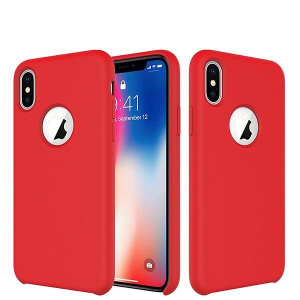 Cover iPhone XS Custodia Antiurto Gomma Gel Silicone Liquido con