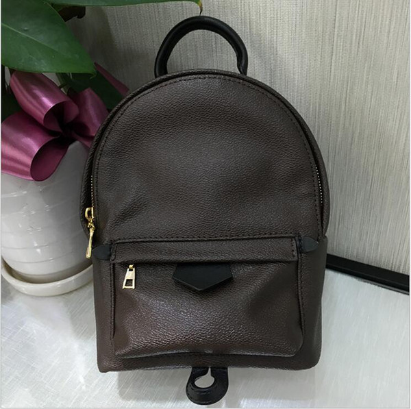 best selling Hight quality Women's Palm Springs Mini Backpack genuine leather children backpacks women printing leather Fashion Mini backpack