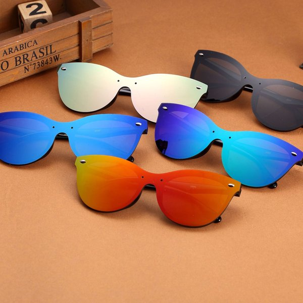 Retro Rice Nail Sunglasses Personality Conjoined Cat Eye Shape Sun Glasses Portable Spectacles For Men And Women 5 9xc B