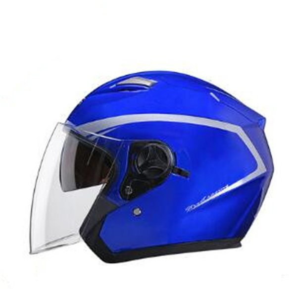 Motorcycle Open Face Helmet DOT Approved Motorbike Moped Jet Bobber Pilot Crash Chopper 3/4 Half Helmet with Sun Visor for Adult