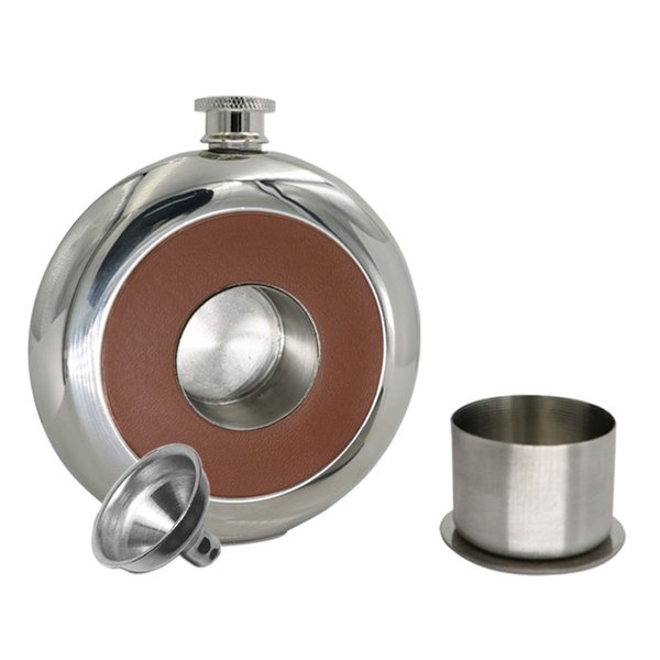new arrivals bpa free 5oz whisky flagon Stainless steel alcohol hip flask with wine cup A2044c