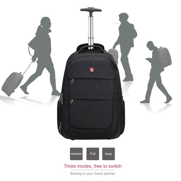 OIWAS Business Backpack Oxford Travel Bag Men Suitcase Wheels Large Capacity Carry On Rolling Luggage