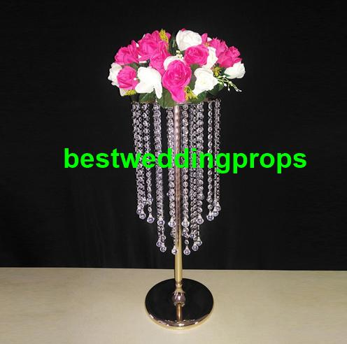 Wedding acrylic crystal Table Centerpiece tall Flower Stand flower vase for wedding Table decoration best202