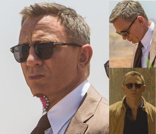 2018 James Bond Óculos De Sol Dos Homens Da Marca Designer de Óculos De Sol Das Mulheres Super Estrela Celebridade Condução Óculos De Sol Tom para Homens Óculos