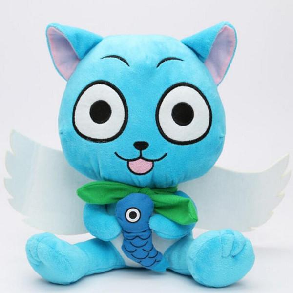 Wholesale-30CM Anime giapponese Cartoon Fairy Tail Felice Peluche Peluche Figura Toy Doll per regalo spedizione gratuita