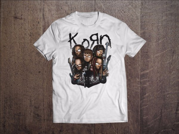 T Shirt Design Website Fashion Korn Metal Band S M L Xl Xxl Xxxl Short O-Neck Magliette per uomo