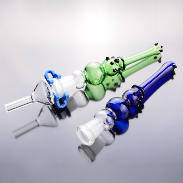 Raccoglitore di nettare kit punta tubo di vetro blu verde 14mm giunto 6