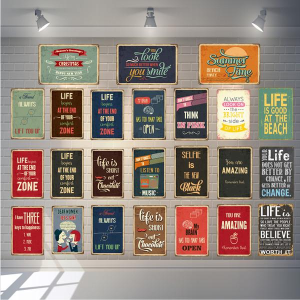 A vida é boa na praia do metal Poster Você é surpreendente Tin Vintage Sinal Wall Plate Pub Bar Início Pintura Decorativa Plaque YD052