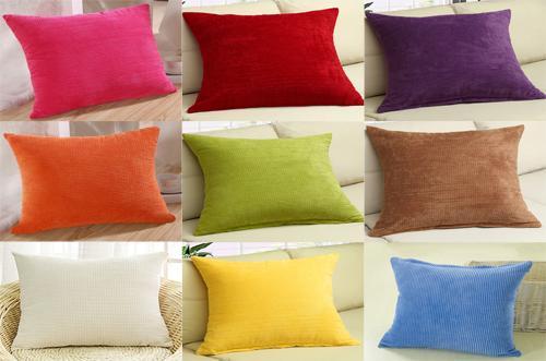 M MOCHOHOME Commercio all'ingrosso di velluto a coste decorativo solido rettangolare tiro federa federa per divano divano letto - 12