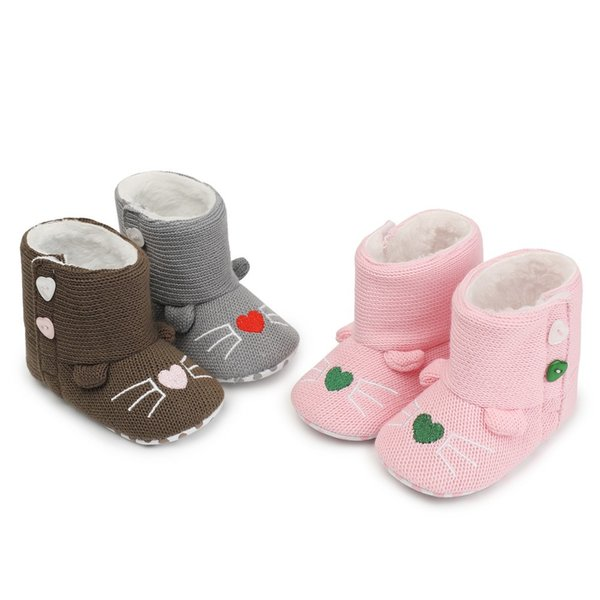 424609167d394 2019 MUQGEW Baby Shoes Newborn Baby Girls Cartoon Warm Winter First Walker  Soft Sole Boot Shoes Winter From Jasmineer, $34.09 | DHgate.Com