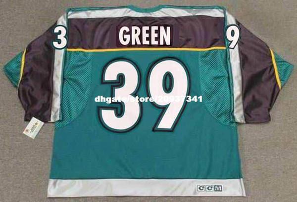 af3c289ab Wholesale Mens TRAVIS GREEN Anaheim Mighty Ducks 1997 CCM Alternate Cheap  Retro Hockey Jersey