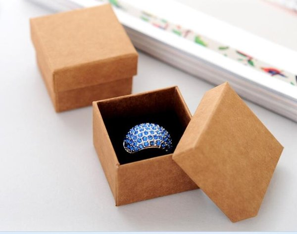Wholesale 5*5*4cm Small Brown Kraft Box Jewelry Boxes And Packaging Carton  For Rings & Earings Corrugated Boxes Wholesale Corrugated Cartons From