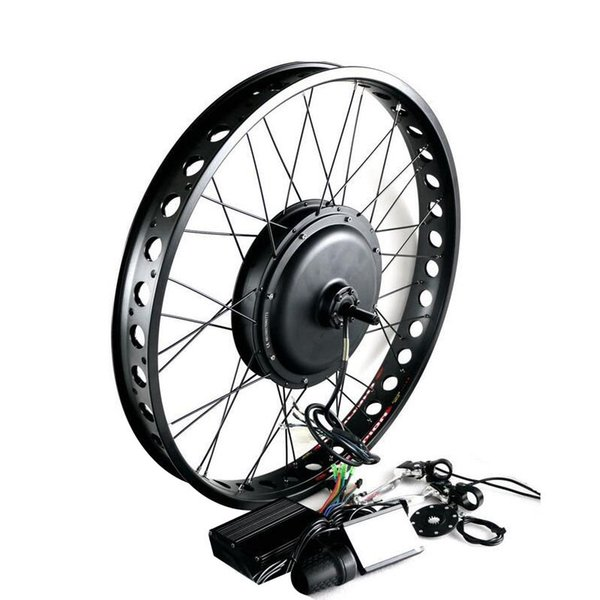 "170mm 190mm Rear brushless Non Gear hub motor wheel 26"" 4.0 Tyre 48V Electric Fat Bike Conversion Kit Snow Bicycle kit 1000W"