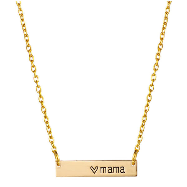 Сердце мама крошечный бар ожерелье мама подарок день рождения матери подарок сем