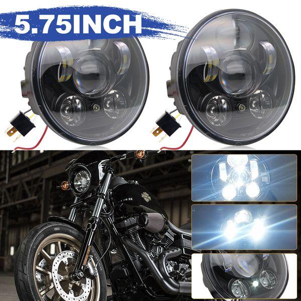 5.75Inch Led Moto Headlight 40W High Low Beam for Harley Davidsion Motorbike Accessories Motorcycle Headlight 12V 24V