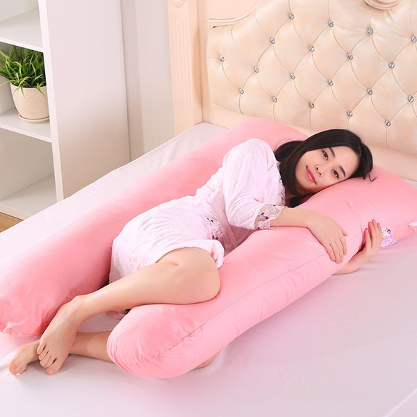 best selling For Pregnant Women Pillow Body Sleeping Support Pillow 100% Cotton Pillowcase U Shape Maternity Pillows Pregnancy Side Sleepers Bedding