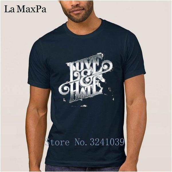 Maglietta casual per uomo 100% cotone manica corta Primavera Autunno Maglietta uomo Maglietta love odio freddo Taglie grandi Tee Top