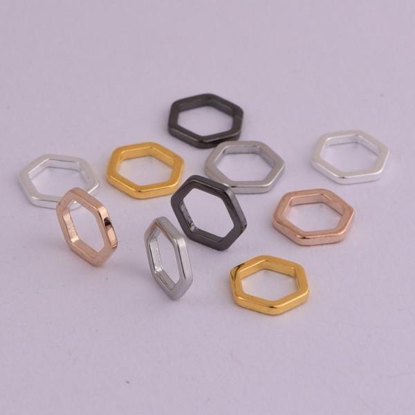 100 шт. / Лот из латуни Сотовый / шестигранный маркер для строчки Подходит для вязальных спиц до 7 мм 5 цветов