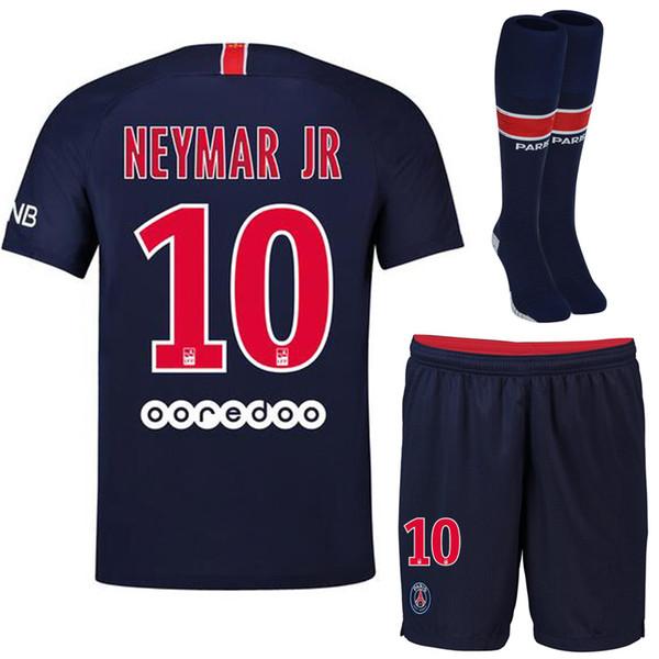 new concept e23a7 fbd7a 2019 2018 2019 Psg NEYMAR JR Soccer Jersey Paris Home Jerseys Kit Full Set  + Socks MBAPPE Maillots De Football CAVANI DI MARIA Tracksuit From ...