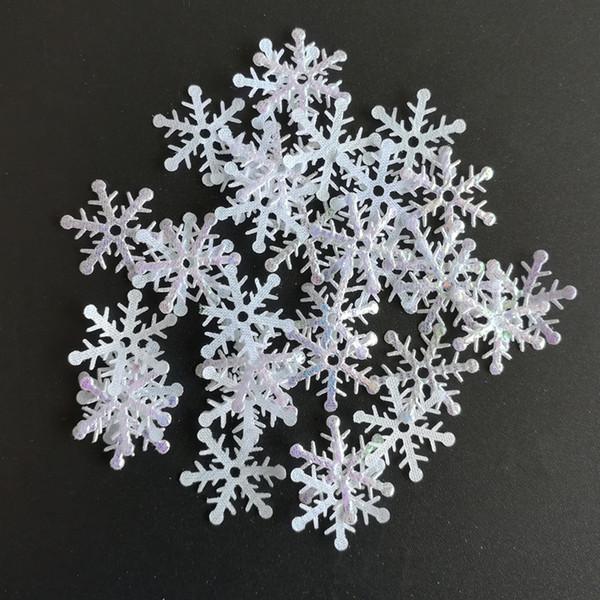 1000PCS/LOT Felt Patch AB Color Snowflake Applique Christmas ornament home Decoration Merry Christmas supply
