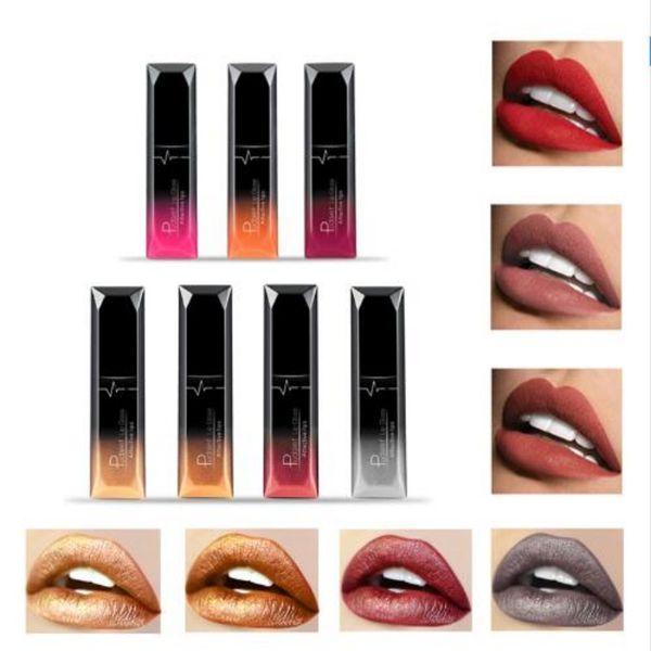 PUDAIER Waterproof Velvet Liquid Lipstick Sexy Red Lip Tint 21 Colors Make up Long Lasting maquiagem Matte Nude Glossy Lipgloss