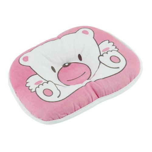 Soft Cotton Pillow Baby Bear Pattern Pillow Cotton For Cot White Toddler Children Super Cute Color Pattern Specially Design