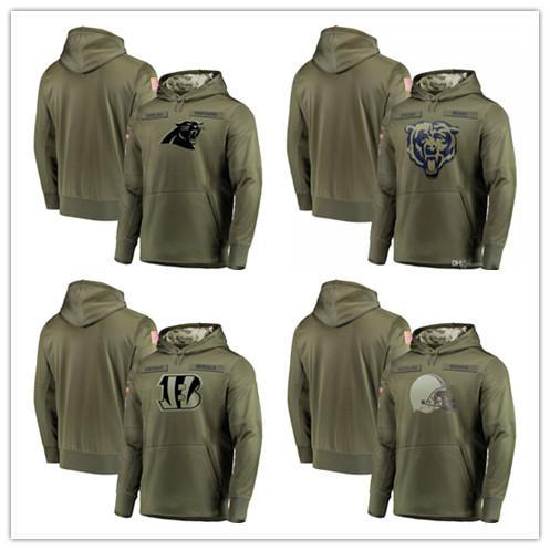 8679726f 2019 2018 Men'S Carolina Panthers Sweatshirt Olive Chicago Bears ...