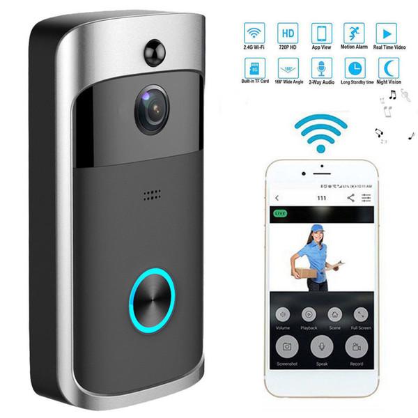 Smart Wireless WiFi Sécurité Sonnette Consommation d'enregistrement visuel Accueil Surveillance à distance de vision nocturne intelligente vidéophone