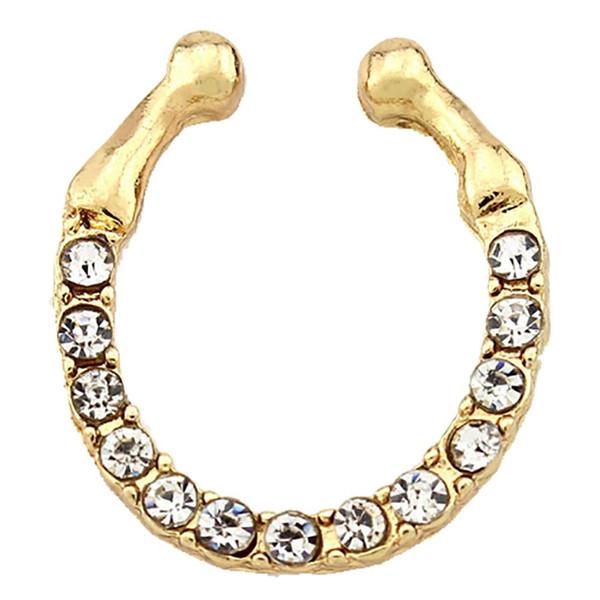 Fake Septum Medical Titanium Nose Rings Fake Piercing Body Hoop Clip Jewelry