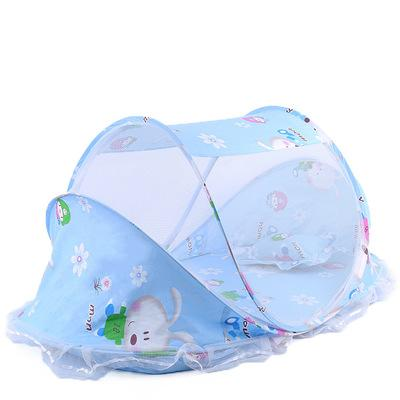 New Children's Cartoon Mosquito Net Baby Folding with Sleeping Pad Mosquito Net Bed 0-3 Years Old Boys and Girls Mosquito Net Bed
