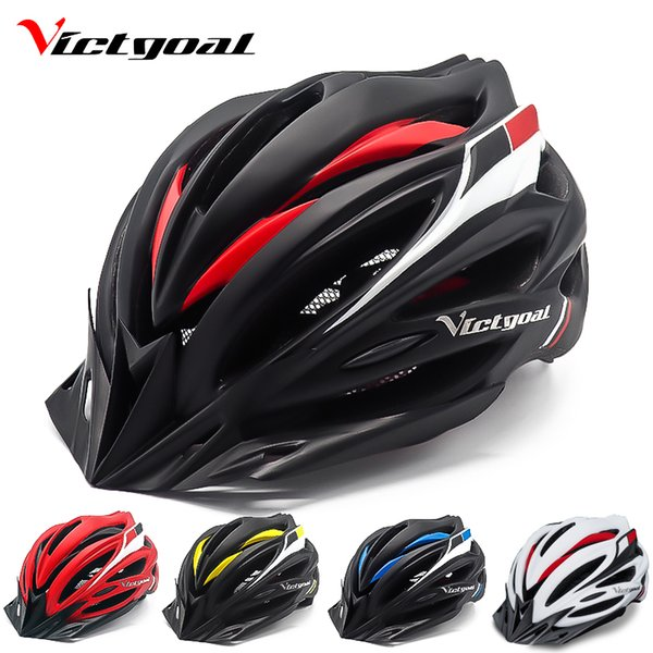 VICTGOAL Bicycle Helmet Backlight Ultralight Bike Helemts Visor For Men Women Mountain Road Cycling Helmet With Light Kids Adult