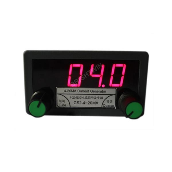 Precision 0-20mA 4-20mA Generator transmissor de sinal Simulator Calibrador medidor de painel de montagem Ajdustable fonte de corrente com display LED