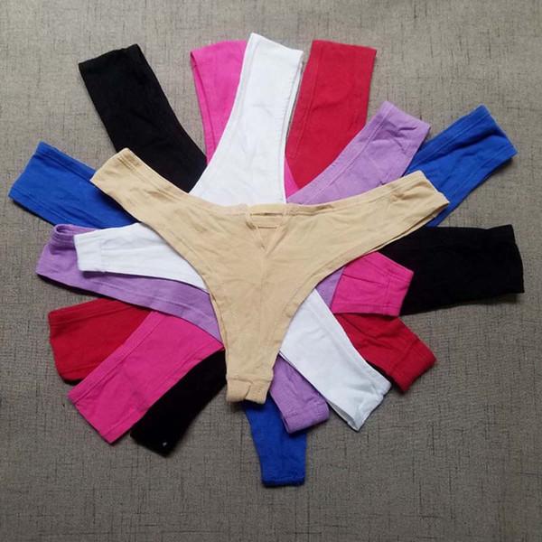 300 adet XS-XXL Karışık Yeni Thongs Pamuk Kadınlar Seksi T Geri G Dize Külot Düşük Bel Külot Ücretsiz Kargo