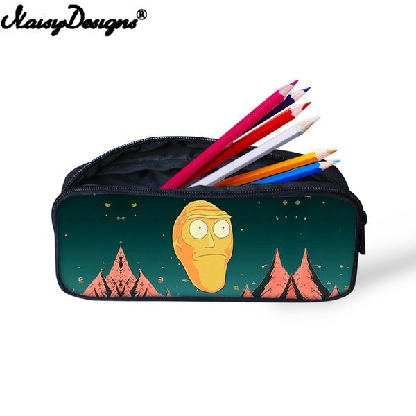 3D Cartoon Comic Rick And Morty Mini Pen Bag for Teenager Storage Bag for Women Girls Portable Cosmetic Fashion Pencil Case
