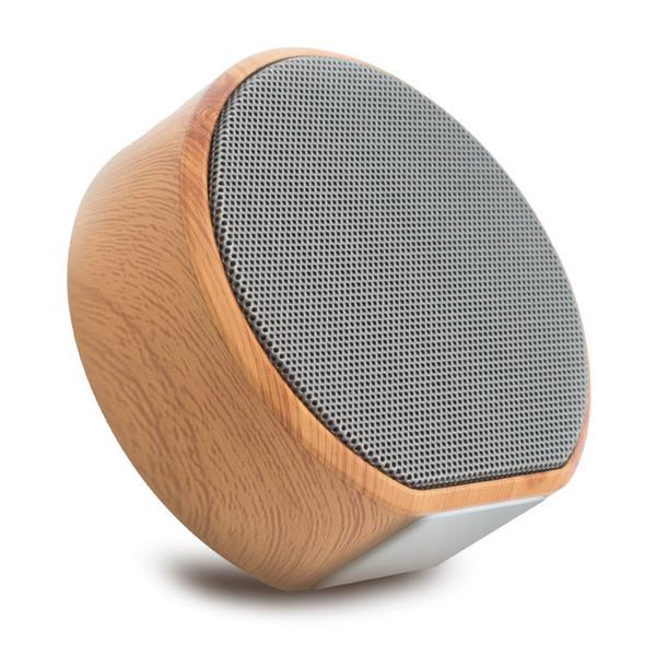 wholesale A60 Wooden Bluetooth Speaker Handsfree MP3 Super Mini Wireless Speaker Support SD Card AUX Subwoofer Radio For Smartphone