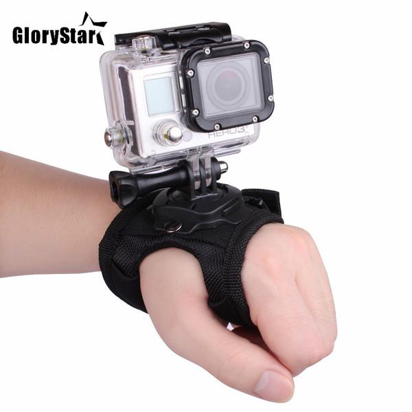 GloryStar 360 Degree Rotation Hand Strap Wrist Belt Mount for Go Pro Hero 6 5 4 3 Xiaomi Yi Sjcam Sj4000 Sj5000 Action Camera