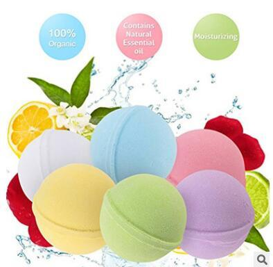 6PCS*60G bubble bath ball set whitening and nourishing bath salt 100% organic contains natural essential oil