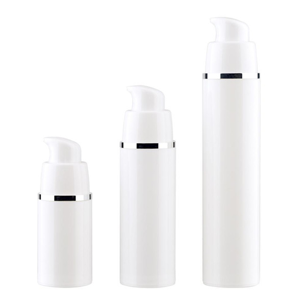 15 30 50 ML Branco Vazio Bomba Airless Garrafas Vaccum Loção de Viagem Recipientes Da Bomba Airless Lotion Dispenser Recarregáveis Garrafa Cosmética