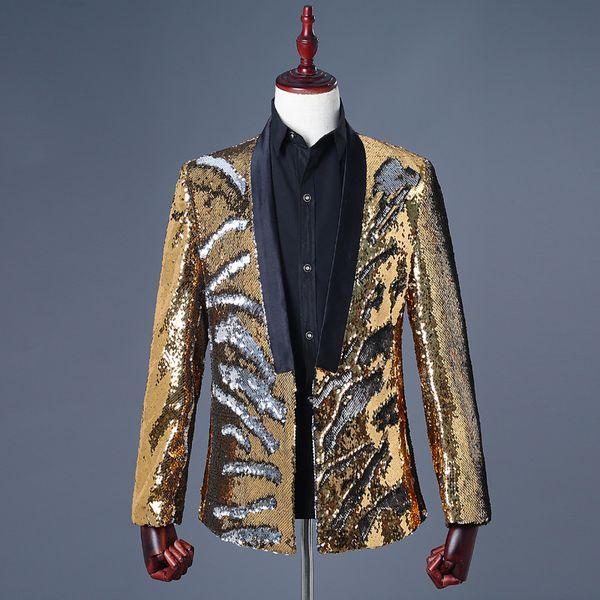 Altın gümüş blazer