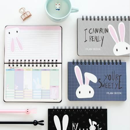 best selling Free Shipping Limited Organizador Lovely Rabbit Totoro Chinchilla Learning Efficiency Plan Planner Coil Book Notebook Calendar