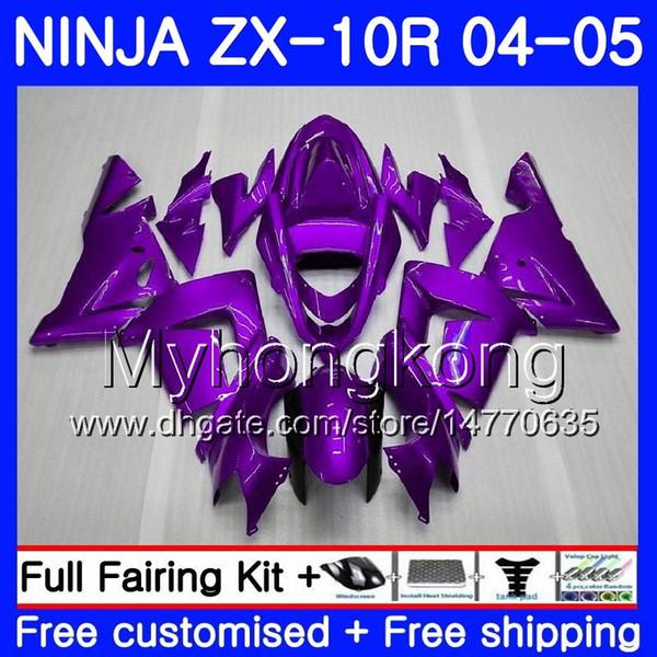 Cuerpos Para KAWASAKI NINJA ZX1000 CC ZX-10R 2004 2005 Carcasa 214HM.39 ZX 10 R ZX 10R 04 05 ZX 1000 1000CC ZX10R 04 05 TODO Purple Fairing HOT