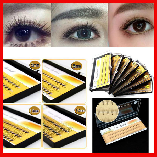 Hot 10 Roots 60pcs Makeup Individual Cluster Eye Lashes Natural Long Soft Grafting Fake False Eyelashes beauty make up eyelash