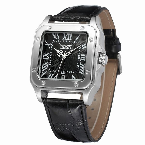 Men Watch Top Brand Luxury Fashion Automatic Mechanical Men JARAGAR Watches Retro Vintage Watch Calendar Relojes Hombre